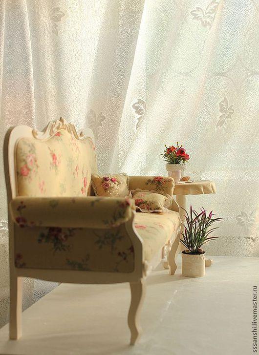 """Кукольный дом ручной работы. Ярмарка Мастеров - ручная работа. Купить Комплект мебели (1:4) """"Бежевое настроение"""". Handmade. Бежевый"""