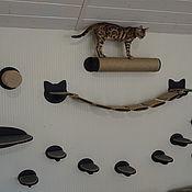 """Зоотовары handmade. Livemaster - original item Настенный комплекс для кошек """"Услада"""". Handmade."""