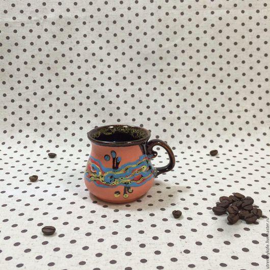 Кружки и чашки ручной работы. Ярмарка Мастеров - ручная работа. Купить Кружка ручной работы кофейная оранжевая. Handmade. Оранжевый