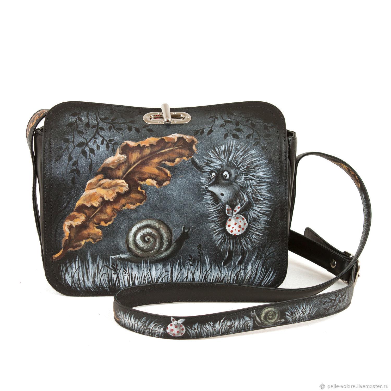 Women's bag-satchel 'hedgehog', Classic Bag, St. Petersburg,  Фото №1