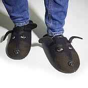 Обувь ручной работы handmade. Livemaster - original item Felted Slippers for men a Loyal friend. Handmade.