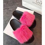 Обувь ручной работы handmade. Livemaster - original item Flip flops with natural rabbit fur. Handmade.