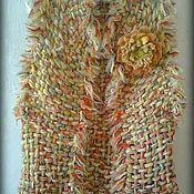 Одежда ручной работы. Ярмарка Мастеров - ручная работа Жилет с брошью. Handmade.