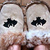 Обувь ручной работы. Ярмарка Мастеров - ручная работа Меховые тапочки. Handmade.