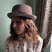 Аксессуары handmade. Livemaster - original item Raffia porkpie hat. Handmade.