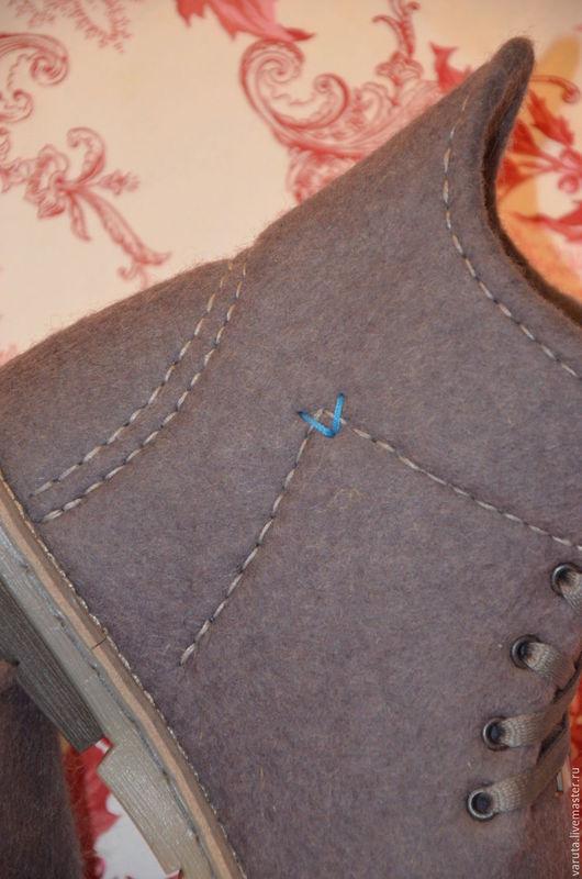 Обувь ручной работы. Ярмарка Мастеров - ручная работа. Купить Ботинки мужские валяные Туман в Лондоне. Handmade. Серый