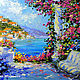 """Пейзаж ручной работы. Ярмарка Мастеров - ручная работа. Купить """"Цветочный Бриз"""" - картина маслом Испания. Handmade. Фуксия, Испания"""