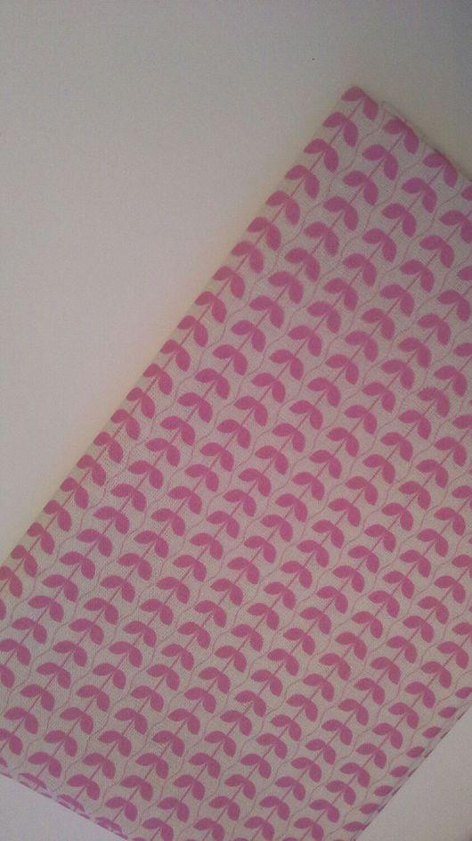 Шитье ручной работы. Ярмарка Мастеров - ручная работа. Купить Ткань хлопок белый с  розовым. Handmade. Ткань для творчества