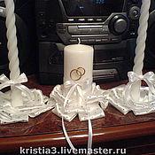 Свадебный салон ручной работы. Ярмарка Мастеров - ручная работа Свечи домашний очег. Handmade.