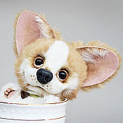 Куклы и игрушки ручной работы. Ярмарка Мастеров - ручная работа Вельш-корги Кузя. Handmade.