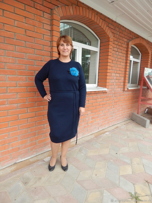 """Платье """"Гроза"""" из полушерсти,большой размер,реглан,пояс, Dresses, Tver,  Фото №1"""