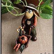 """Куклы и пупсы ручной работы. Ярмарка Мастеров - ручная работа Фигурка """"Ослик-Огородник"""". Handmade."""
