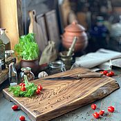 Доски ручной работы. Ярмарка Мастеров - ручная работа Доска для разделки мяса из массива карагача. Handmade.