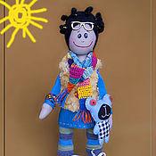 Куклы и игрушки ручной работы. Ярмарка Мастеров - ручная работа Чудачка Заучка с чудо-мишкой. Handmade.