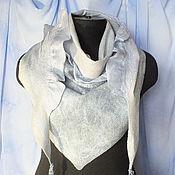 Аксессуары ручной работы. Ярмарка Мастеров - ручная работа Валяный шарф-бактус... под серебряным дождем..... Handmade.