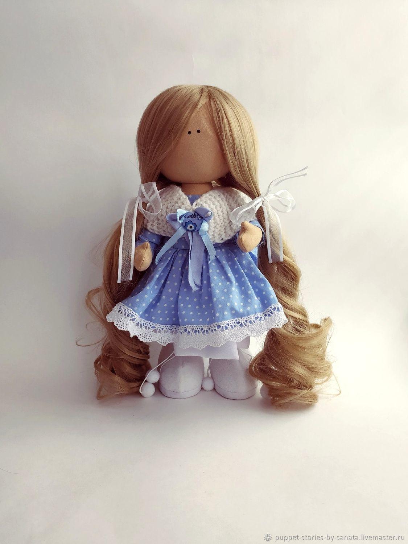 Textile doll in polka dot dress. height - 32 cm, Dolls, St. Petersburg,  Фото №1