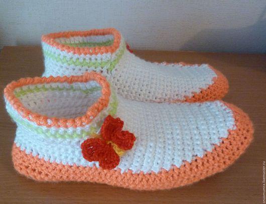 Обувь ручной работы. Ярмарка Мастеров - ручная работа. Купить Домашние сапожки. Handmade. Комбинированный, сапожки для дома