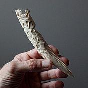 Талисманы ручной работы. Ярмарка Мастеров - ручная работа Ритуальный нож Волк викинг (рог лося)лл7. Handmade.