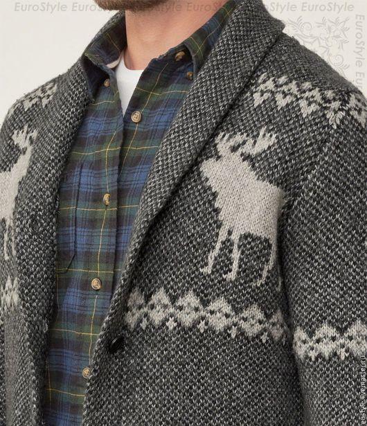 Кофты и свитера ручной работы. Ярмарка Мастеров - ручная работа. Купить Кардиган мужской на пуговицах.Шерстяной кардиган. Handmade.