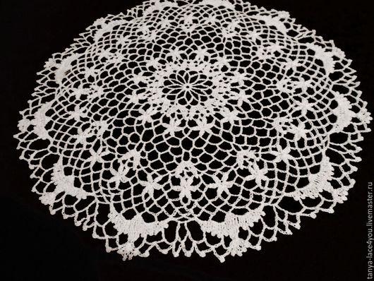 Текстиль, ковры ручной работы. Ярмарка Мастеров - ручная работа. Купить Вязаная салфетка с птичками. Handmade. Белый, ажурная салфетка