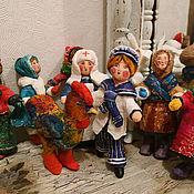 Куклы и игрушки ручной работы. Ярмарка Мастеров - ручная работа Проданы. Ватные игрушки (винтажный стиль) 9штук. Handmade.