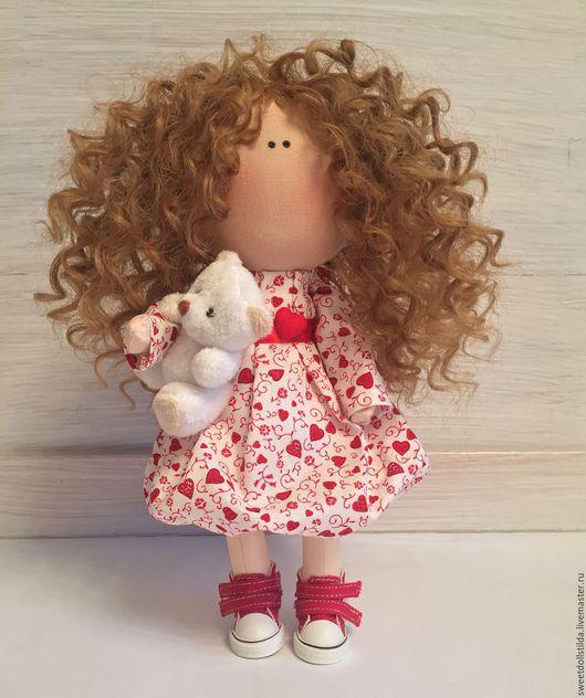 Коллекционные куклы ручной работы. Ярмарка Мастеров - ручная работа. Купить Кудряшка Сью. Handmade. Ярко-красный, кудри, любовь