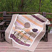 Для дома и интерьера ручной работы. Ярмарка Мастеров - ручная работа Лоскутное покрывало Дачные сезоны пэчворк. Handmade.