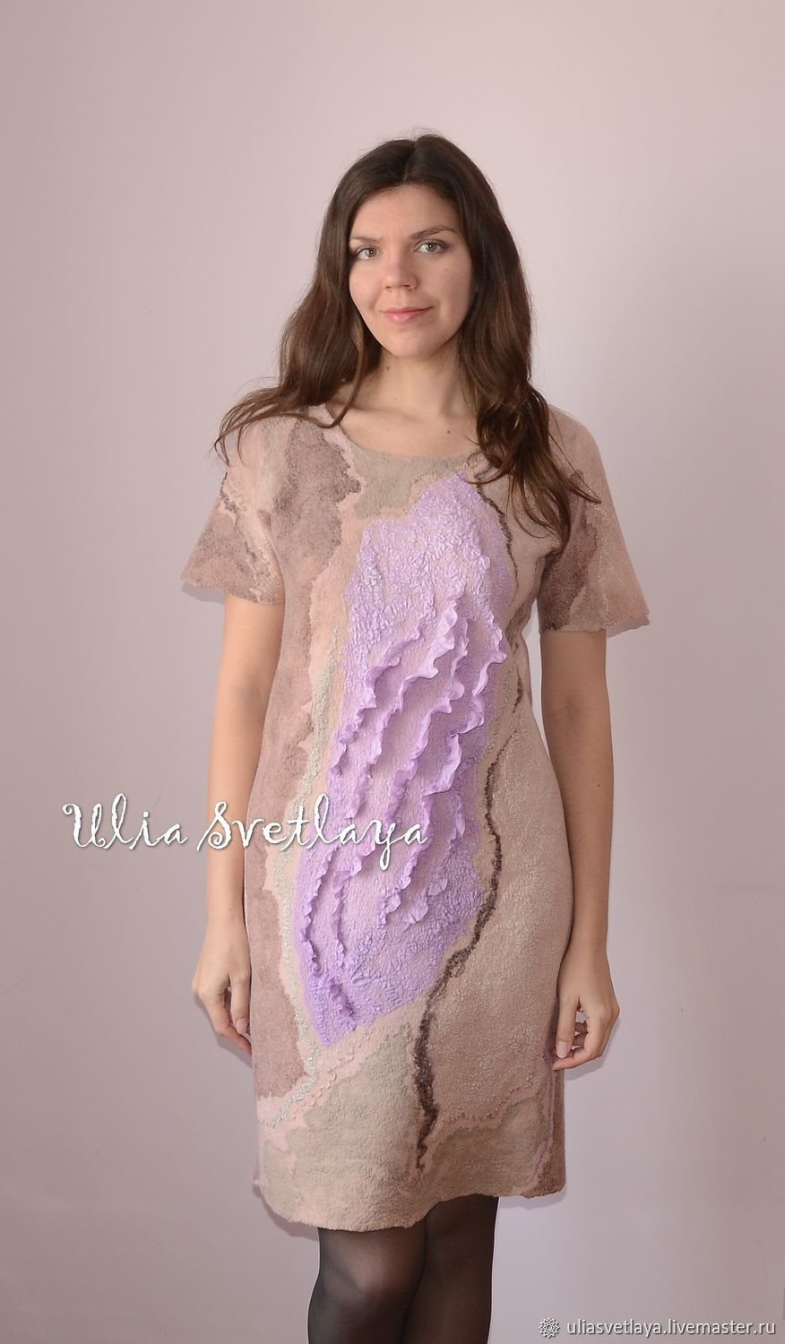 Felted dress 'A Touch of tenderness', Dresses, Zaporozhye,  Фото №1