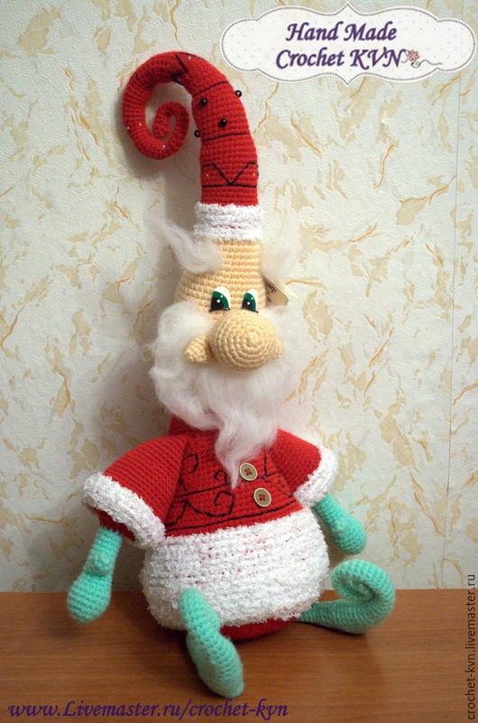 Сказочные персонажи ручной работы. Ярмарка Мастеров - ручная работа. Купить Морозный дедулька. Handmade. Комбинированный, К Новому Году