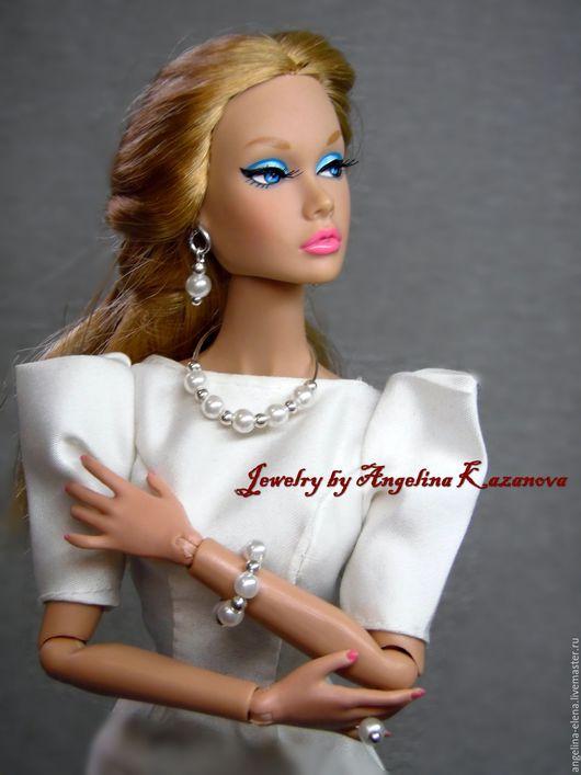 Комплект украшений для кукол 1/6 `Жемчужина` Вариант 3 Автор Ангелина КАЗАНОВА