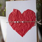 Открытки ручной работы. Ярмарка Мастеров - ручная работа Открытка Big Heart. Handmade.