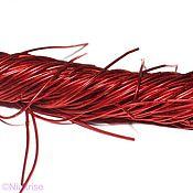 Материалы для творчества ручной работы. Ярмарка Мастеров - ручная работа Канитель мягкая 1 мм 2,5 метра цвет красный FS052. Handmade.
