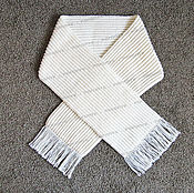 Аксессуары handmade. Livemaster - original item Knitted wide scarf of sheep`s wool light. Handmade.