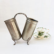 Винтаж ручной работы. Ярмарка Мастеров - ручная работа Винтажная вазочка из олова, карандашница,салфетница,Италия. Handmade.