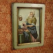 Сувениры и подарки ручной работы. Ярмарка Мастеров - ручная работа Рамка фисташковая Рамка под вышивку Рамка под фото. Handmade.