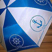 """Аксессуары ручной работы. Ярмарка Мастеров - ручная работа """"Морячка"""" зонт с росписью. Handmade."""