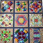 Куклы и игрушки ручной работы. Ярмарка Мастеров - ручная работа Массажный коврик развивающий коврик - трансформер. Handmade.