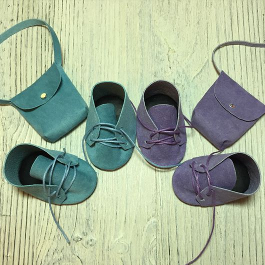 Одежда для кукол ручной работы. Ярмарка Мастеров - ручная работа. Купить Ботиночки для кукол. Handmade. Комбинированный, обувь для кукол