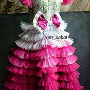 Платья ручной работы. Ярмарка Мастеров - ручная работа Платье на выпускной, бальное платье, платье со шлейфом и рюшами. Handmade.