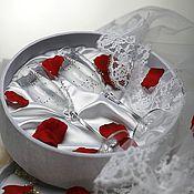 Свадебный салон handmade. Livemaster - original item Wedding glasses in gift box. Handmade.