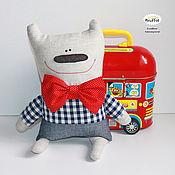 """Куклы и игрушки ручной работы. Ярмарка Мастеров - ручная работа Медведь """"Червежонок"""" текстильная игрушка для детей. Handmade."""