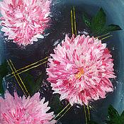 Картины и панно handmade. Livemaster - original item Dahlias /oil on canvas. Handmade.