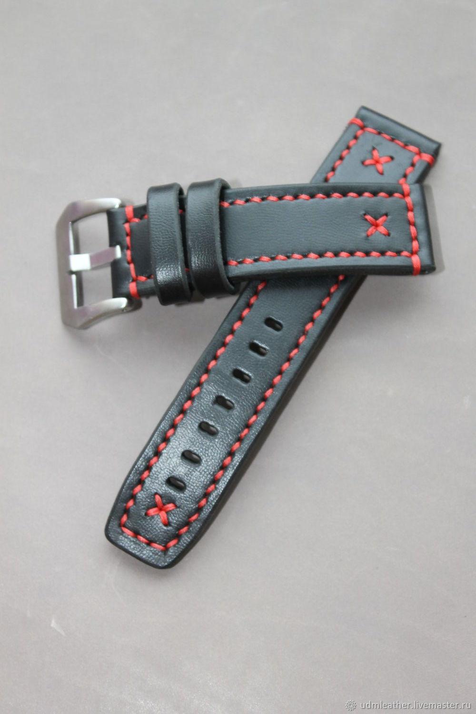 Hand made watch strap 24 mm / Apple Watch, Watch Straps, Izhevsk,  Фото №1