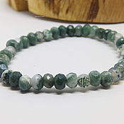 Украшения handmade. Livemaster - original item Green Garden Bracelet (quartz with chlorite, chalcedony). Handmade.