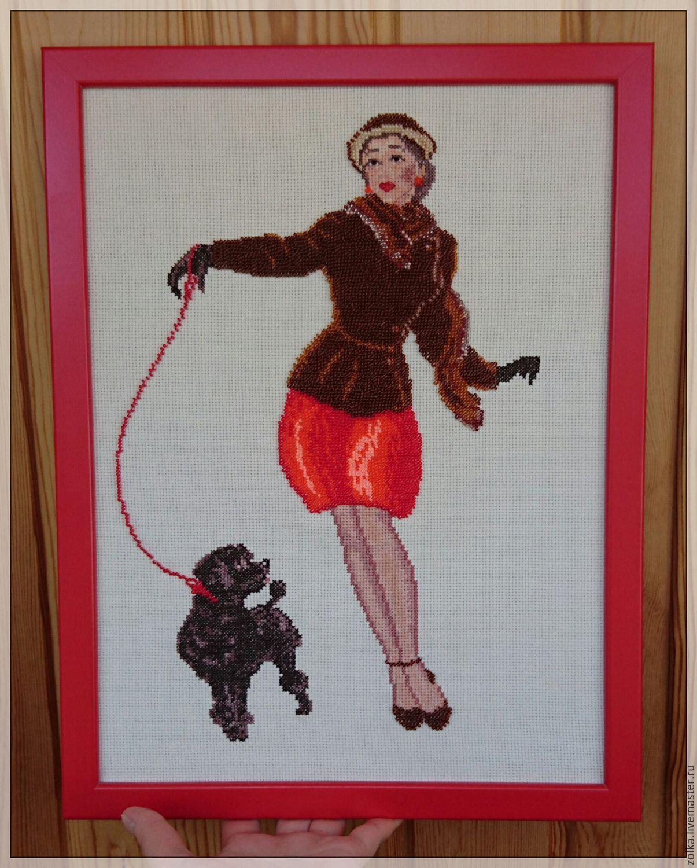 Дама с пуделем, Картины, Новосибирск,  Фото №1