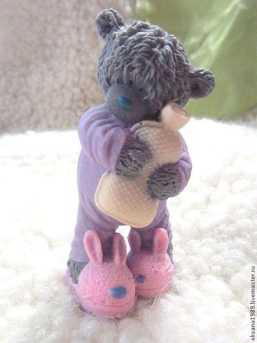 """Мыло ручной работы. Ярмарка Мастеров - ручная работа. Купить Мыло """"Тедди с грелкой"""". Handmade. Серый, мишка тедди"""