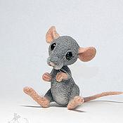 Куклы и игрушки ручной работы. Ярмарка Мастеров - ручная работа Валяная игрушка «Мышонок». Handmade.