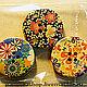 Шитье ручной работы. Заказать Пуговицы с цветочным рисунком 30 мм. ArtKoza (PandoraShop). Ярмарка Мастеров. Аксессуар