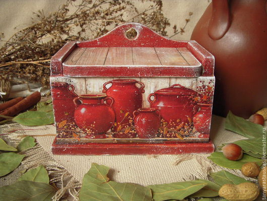 """Кухня ручной работы. Ярмарка Мастеров - ручная работа. Купить """"Кувшинный ряд"""" короб- лаврушница. Handmade. Короб для хранения"""