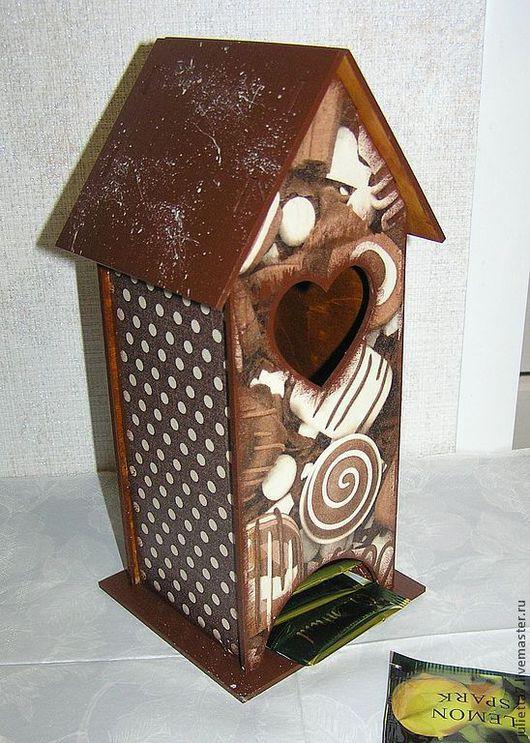 """Кухня ручной работы. Ярмарка Мастеров - ручная работа. Купить Чайный домик """"Вкусняшки"""". Handmade. Домик для чая"""